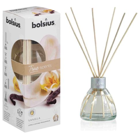 Bolsius Vanilla Scented Room Air Fragrance Reed Diffuser